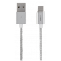 Magnetinis kabelis STREETZ USB 2.0, USB-C, 1m, sidabrinis / USBC-1271