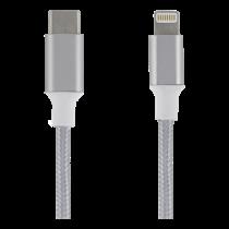 USB-C - Lightning kabelis, 1m, pintas, sidabrinė EPZI / USBC-1312
