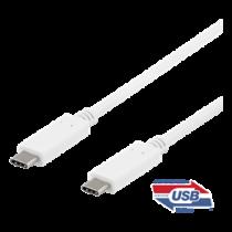 DELTACO USB-C į USB-C kabelis, 1m, 10Gbps, 100W 5A, USB 3.1 Gen 2, USBC-1407