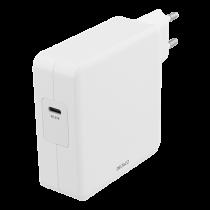 DELTACO 87W USB-C maitinimo šaltinis, greitas įkrovimas, USB-C PD, baltas / USBC-AC117