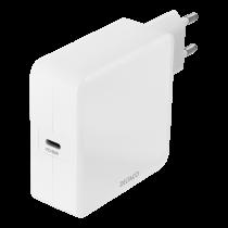 DELTACO USB sieninis įkroviklis, 1x USB-C PD, 65 W, baltas USBC-AC140