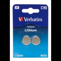 Baterija Verbatim 2 x CR2032 Li / V49936