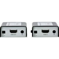 ATEN HDMI Extender Over Network Cable, 40m, 1080p, Audio, Remote Control IR, Black / Silver VE810