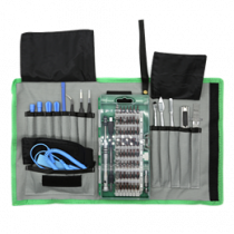 "Išmaniųjų telefonų remonto įrankių rinkinys, 75 vnt., ""Precision CRV"" DELTACOIMP žalia / VK-53"