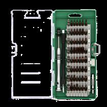 """Išmaniųjų telefonų remonto rinkinys, 58 vnt., """"Precision CRV"""" DELTACOIMP žalia / VK-55"""