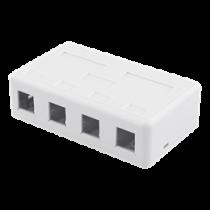 DELTACO Keystone virštinkinė dėžutė, 4 Ports, Balta / VR-224