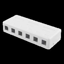 DELTACO  Keystone paskirstymo dėžutė, 6 Porų, balta / VR-225