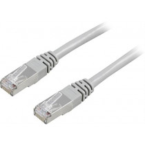 Cable DELTACO F / UTP, Cat5e, 1m, 100MHz, gray / 1-STP