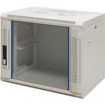 "TOTEN, 19 ""wall cabinets, 9U, 600x450, glass door, white  / 19-6409V"