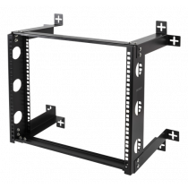 "DELTACO 19 ""wall mount, 9U, 50kg load, steel, mounting kit, black / 19-DTSR0509"