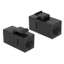 DeLock 86381 Keystone module RJ45 connector for RJ45 connector Cat.6 UTP black / 86381