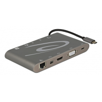 DeLOCK USB-C 3.1 Docking station, 3840x2160 in 30Hz, space gray 87297