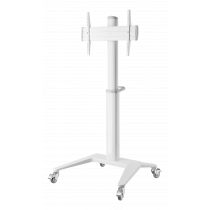 """Display Cart DELTACO OFFICE adjustable height, aluminum, 37-70"""", white / ARM-0452"""