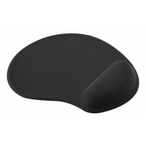 Mouse pad DELTACO OFFICE with wrist rest in gel, black / DELO-0207