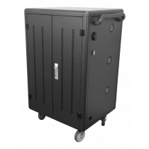 """Charging trolley for laptops and tablets DELTACO up to 14"""", 36 slots, double door, black / DPS-0202"""
