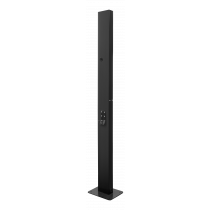 DELTACO e-Charge mounting post for charging box EV-4120 & EV-4320, black / EV-5104