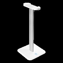 Headphone stand DELTACO GAMING WHITE LINE WA80, aluminum pole, white / GAM-071-W