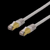Cable DELTACO S / FTP Cat6a, delta certfied, LSZH, 1,5m, gray / SFTP-611AH