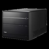 Cube PC Shuttle XPC barebone, H370, S1151v2, black / PC-SH370R661 / SH370R6V2-PLUS