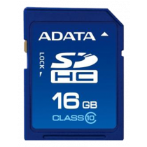 Memory card A-DATA SDHC, 16GB, UHS speed class 1, speed class 10, 10/50 Mb/s, blue ASDH16GUICL10-R / ADATA-178