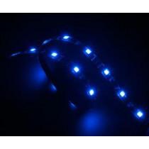 """Vegas"" LED list for computer cases, 12V 4-pin molex, 15 LED lights, extensible Akasa blue / AK-0034"