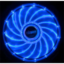 Akasa Vegas LED chassis fan, 120x120x25mm, 1200 RPM, 3-pin, 23.2 dBA, black / blue / AK-FN091-BL
