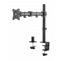 "DELTACO OFFICE Desk mount for 1x monitor, tilt, turn, rotate, 13 ""-27"", VESA, black ARM-0303"