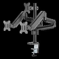 "Gas spring arm desk DELTACO OFFICE aluminum, tiltable, swivel, rotate, 17 ""-27"", black, 1,5-7kg, 75x75-100x100 / ARM-0352"