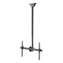 "DELTACO OFFICE Telescopic fully articulating ceiling mount for LED / LCD, 37-70 "", 1060 - 1560 mm, black ARM-0401"