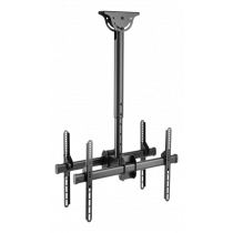 "DELTACO OFFICE Telescopic back-to-back ceiling mount for LED / LCD, 37-70 "", 560 - 910 mm, black  ARM-0403"
