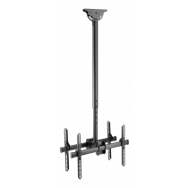 "DELTACO OFFICE Telescopic back-to-back ceiling mount for LED / LCD, 37-70 "", 1060 - 1560 mm, black  ARM-0404"