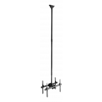"DELTACO OFFICE Telescopic back-to-back ceiling mount for LED / LCD, 37-70 "", 2500 - 3000 mm, black  ARM-0405"