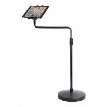 "DELTACO floor stand for tablets, 7 ""- 10.1"", 74.5-116.5 cm adjustable height, 360 ° rotation, 90 ° tilt, black  ARM-445"