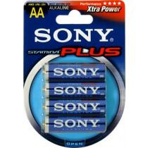 Batteries SONY Stamina Plus, LR06 / AA, alkaline, 1.5V, 4-pack / BAT-113