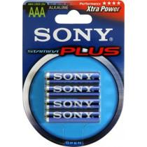 Batteries SONY Stamina Plus, LR03 / AAA, alkaline, 1.5V, 4-pack /  BAT-114