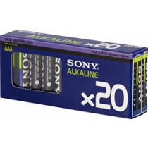 Batteries SONY Ecopack AAA-cell (LR03), 1,5Volt 20-pack / BAT-119