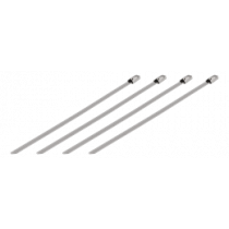 DELTACO cable ties of stainless steel, 150mm, 20-pack, up to 65kg / BB-225