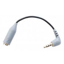 Smartphone TRRS Adapter BOYA  3.5 mm TRS to 3.5 mm TRRS, shielded cable, gold plated, silver / BOYA10042