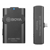 BOYA BY-WM4 PRO k5, wireless microphone system for Android and other USB-C devices, 2.4 GHz, black BOYA10161