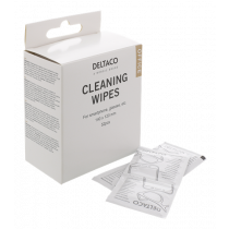 Office cleaning wipes for smartphone DELTACO 140x120mm, 1 pack 52 napkins, white / CK1028