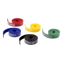 Cable sorting kit, Velcro strap in different colors, 5-pack DELTACO / CM01