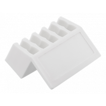 Cable holder DELTACO 5 seats, white / CM501
