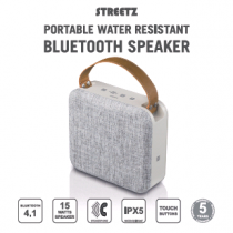 Speaker STREETZ Bluetooth, NFC, 15W, IPX5, white/grey / CM761