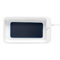 DELTACO UV disinfection box, UV-C LED, disinfect your phone, jewelry and more, 275 nm light wavelength, white CS-01