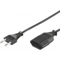 Cable DELTACO CEE 7/16 to IEC 60906-1 Class 0.2m, black / DEL-109AD