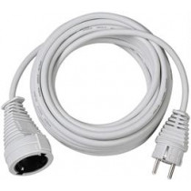 Brennenstuhl earthed extension cable straight CEE 7/7 to straight CEE 7/4 (Schuko), 10m , white 1168460 / DEL-118K