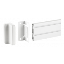 DELTACO OFFICE wall mounting bracket for mounting track panel, white / DELO-0153