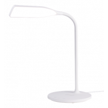DELTACO OFFICE LED desk lamp with wireless fast charging, timer function, 360lm white /  DELO-0400