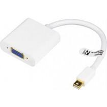 Adapter DELTACO DisplayPort to VGA adapter, 0.2m, white  DP-VGA4