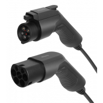 EV-Charging cable DELTACO Type 2 - Type 1, 1 phase, 16A, 3.6KW, 3m, black / EV-1103